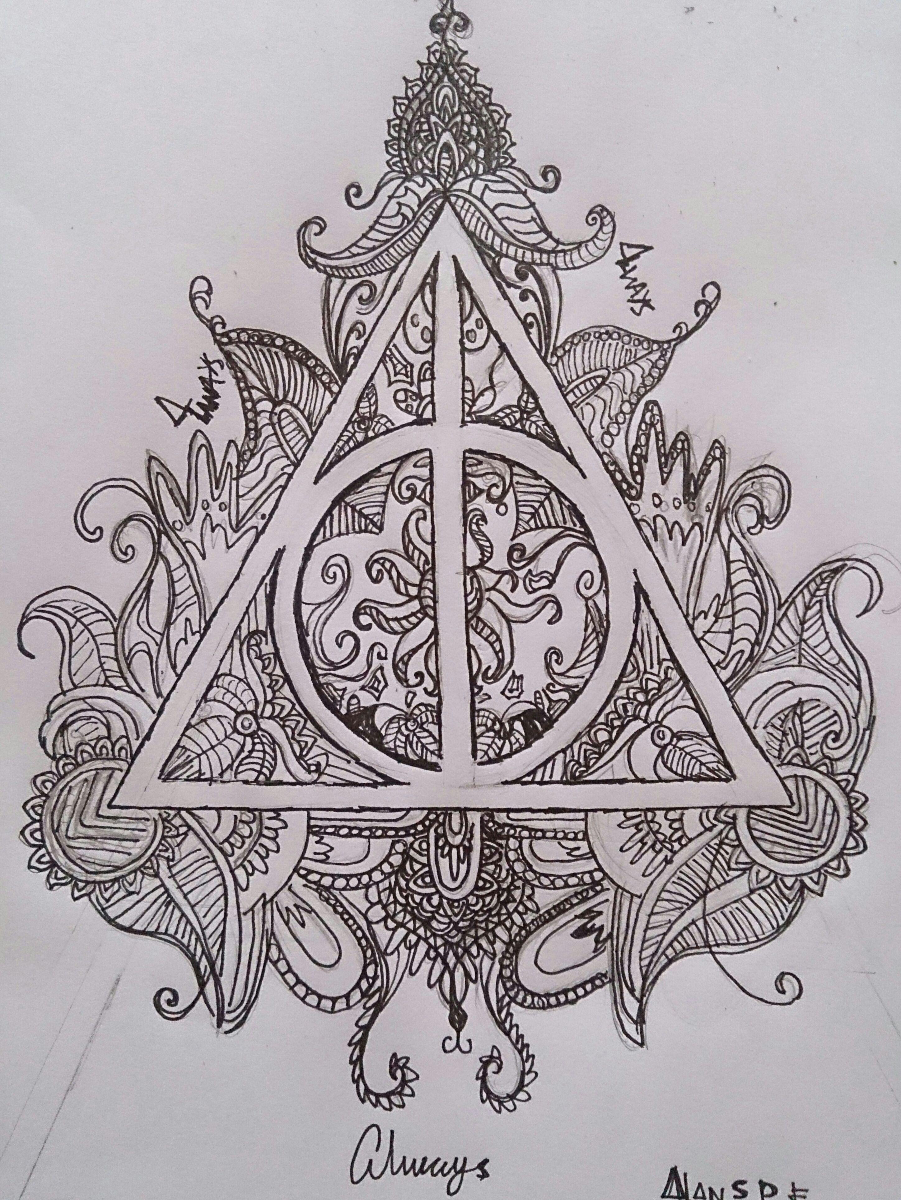 Harry Potter Deathly Hallows Zectangle Artwork Con Imagenes