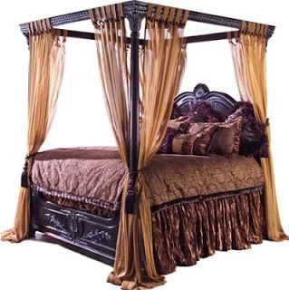 Antique canopy bed antique furniture and canopy bed - King size canopy bed with curtains ...