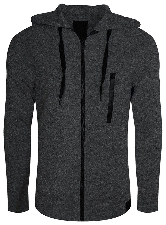 Mens Tech Fleece Jacket Upmt0068_charcoal CW12O1CSQS8