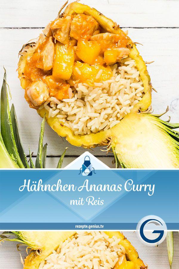 Hähnchen Ananas Curry mit Reis • Genius Rezeptwelt