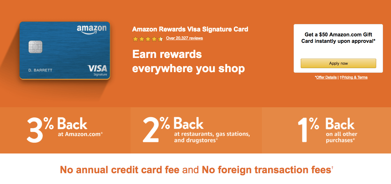 Amazon Rewards Visa Signature Credit Card Review Amazon