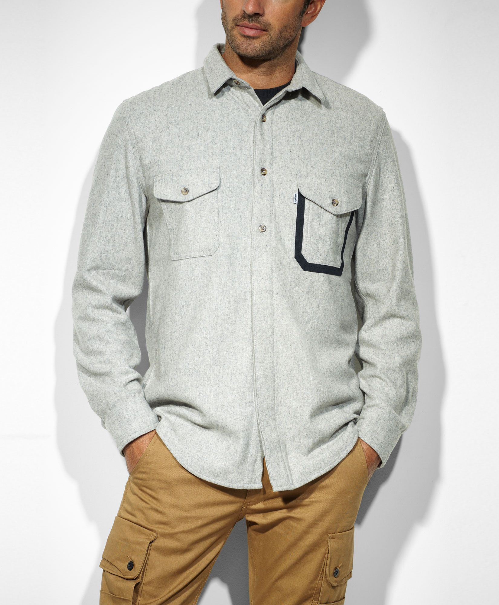 They did it.  Oh yes.  Levi's® Workwear by Filson® Fishing Shirt - Heather Grey - Workshirts