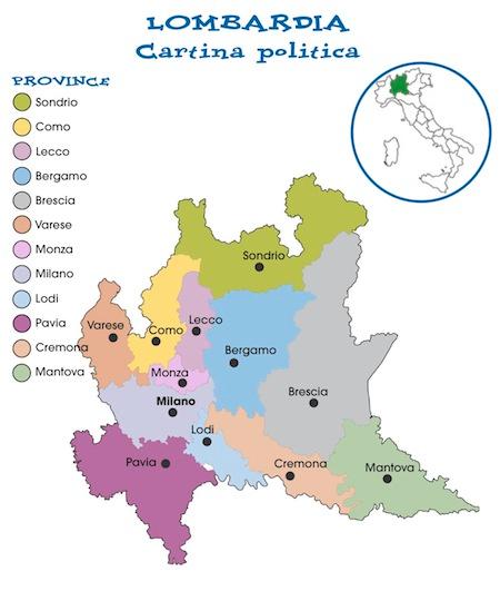 Cartina Lombardia Sondrio.Cartina Politica Lombardia Da Stampare Gratis Per La Scuola Primaria Politica Attivita Geografia Scuola