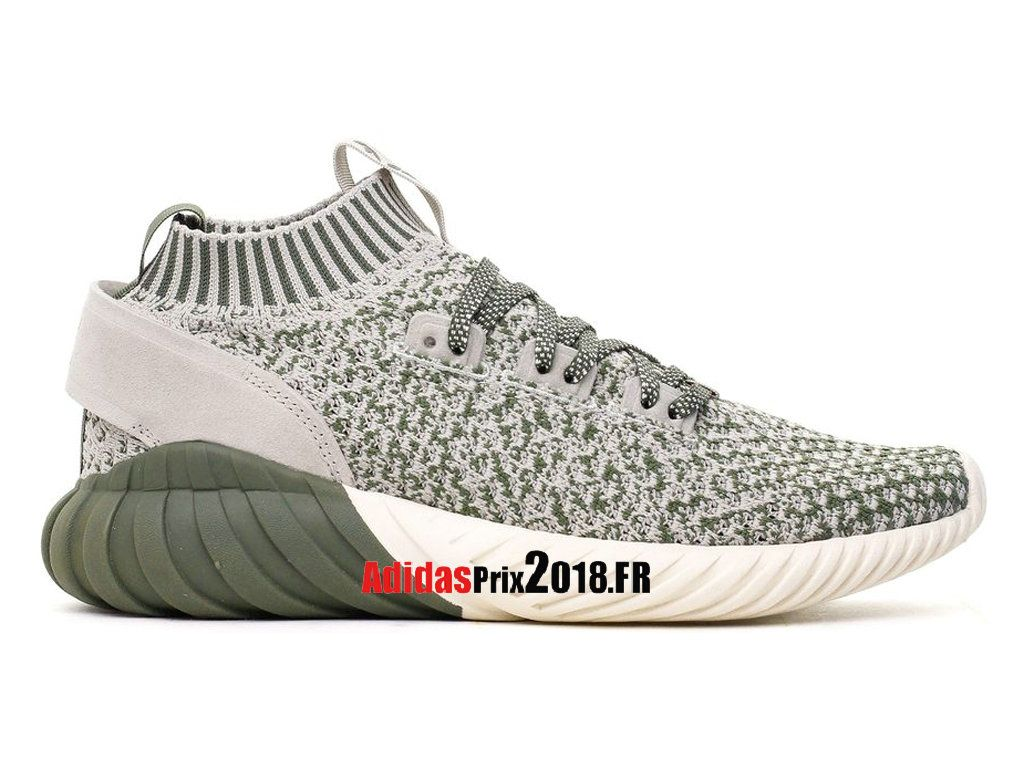 Adidas Tubular Doom Sock Primeknit OliveBlanc CasséGris