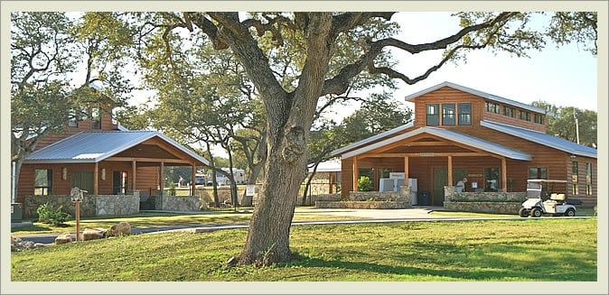 There Are Cottages At La Hacienda Rv Resort Cabins And Places To Camp Your Rv They Say The Ghosts Are Just A Little Bit W Resort Cabins Hacienda Pet Resort