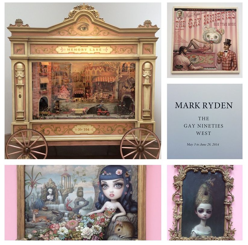 I went to the amazing Mark Ryden exhibit at the Kohn Gallery - do yourself a favor and go!   http://www.thesilverlininglife.com/#!large-grid/cyct