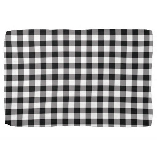 Black And White Gingham Check Kitchen Towels Kitchen Hand Towels Gingham Check Towel