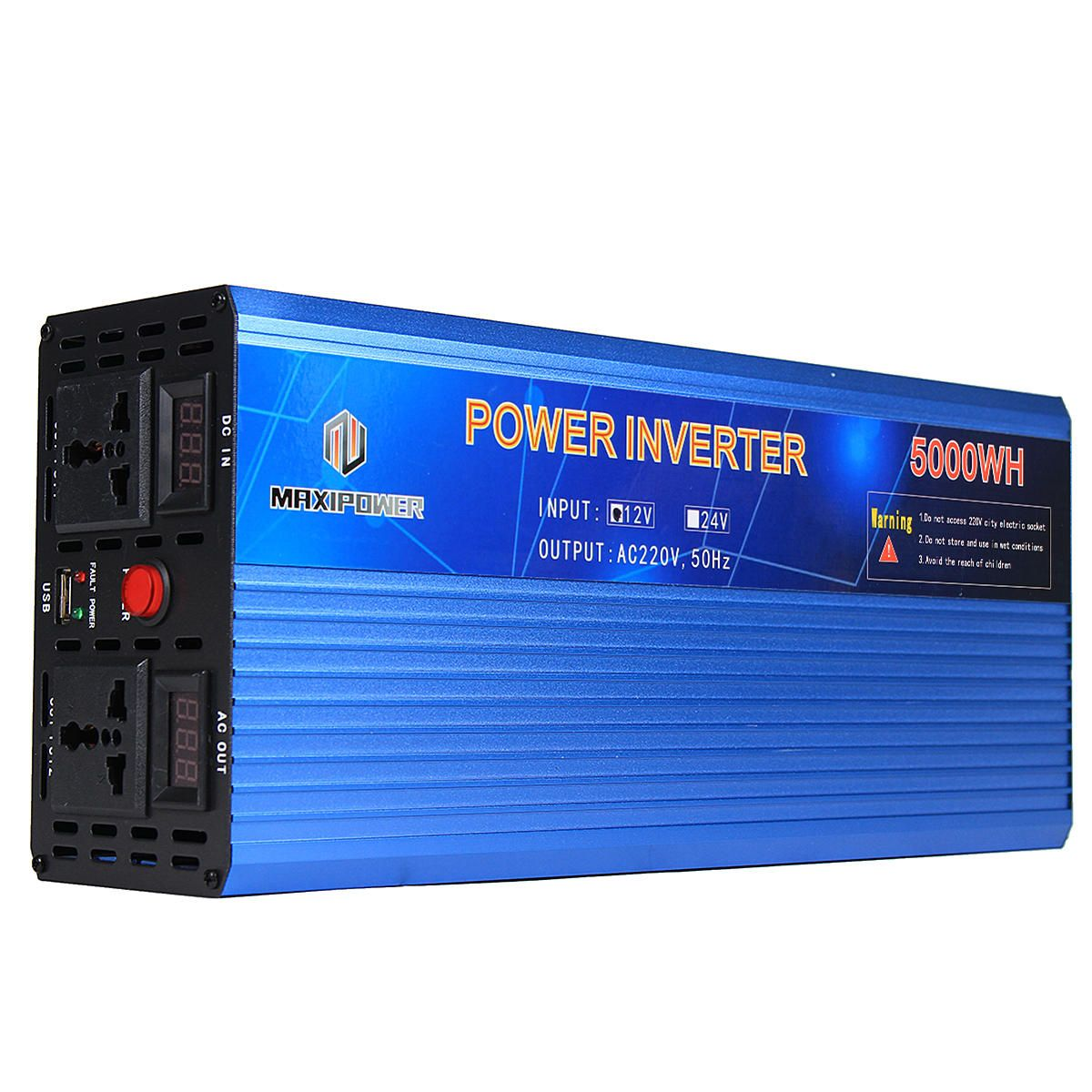 Us 104 15 12v To 220v Power Inverter Modified Sine Wave Power Converter 3000w 4000w 5000w Double Display Electrical Equipment Supplies From Tools I