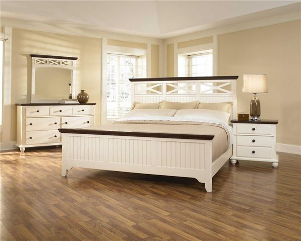 The Hawes Street White Panel Bed Furniture Mission Style