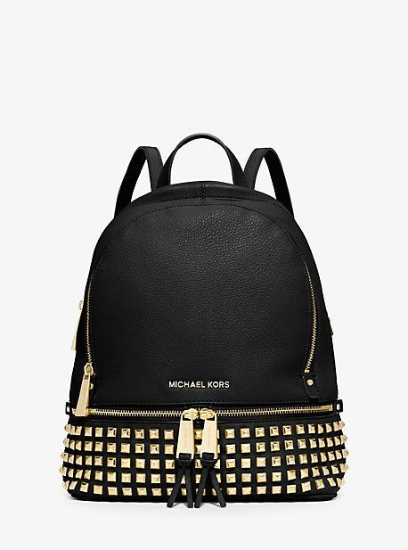 eb6c5d81292f Rhea Small Studded Leather Backpack Coach Bags