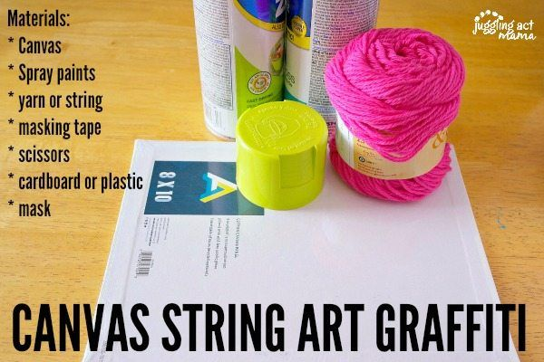 String Art Ideas Canvas String Art Graffiti is part of Kids Crafts Canvas Leaves - This Canvas String Art Graffiti project is fun for kids and adults alike  Includes full tutorial and alternate project ideas, with tips for young children
