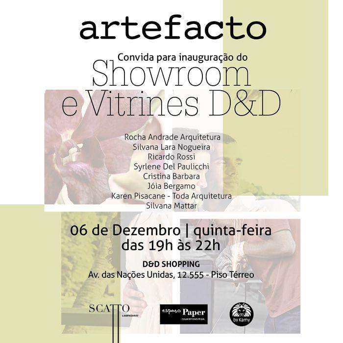 Na próxima quinta-feira (06/12/12) terá a inauguração da Vitrine TODA Arquitetura na Artefacto do D Shopping. Visitem-nos!
