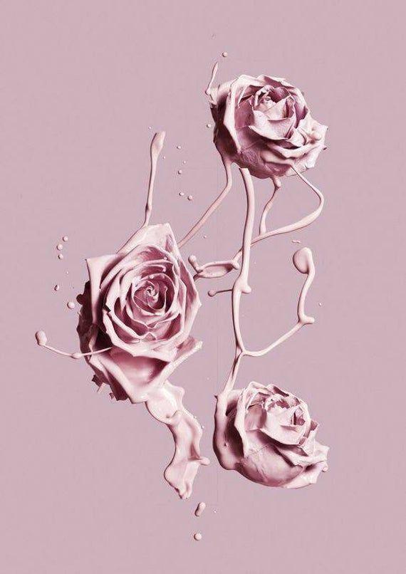 Pink Splash of Flowers Art Print