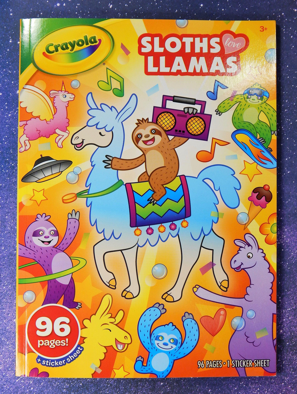 Crayola Sloths Love Llamas Coloring Book Stickers Coloring Books Crayola Scrapbook Store