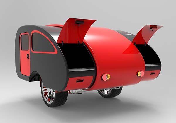 Expandable Travel Trailers >> Mini Caravan Expandable Camping Trailer | Mini caravan, Teardrop trailer, Diy camper trailer