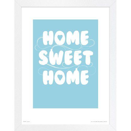 Photo of East Urban Home Framed Poster Home Sweet Home | Wayfair.de
