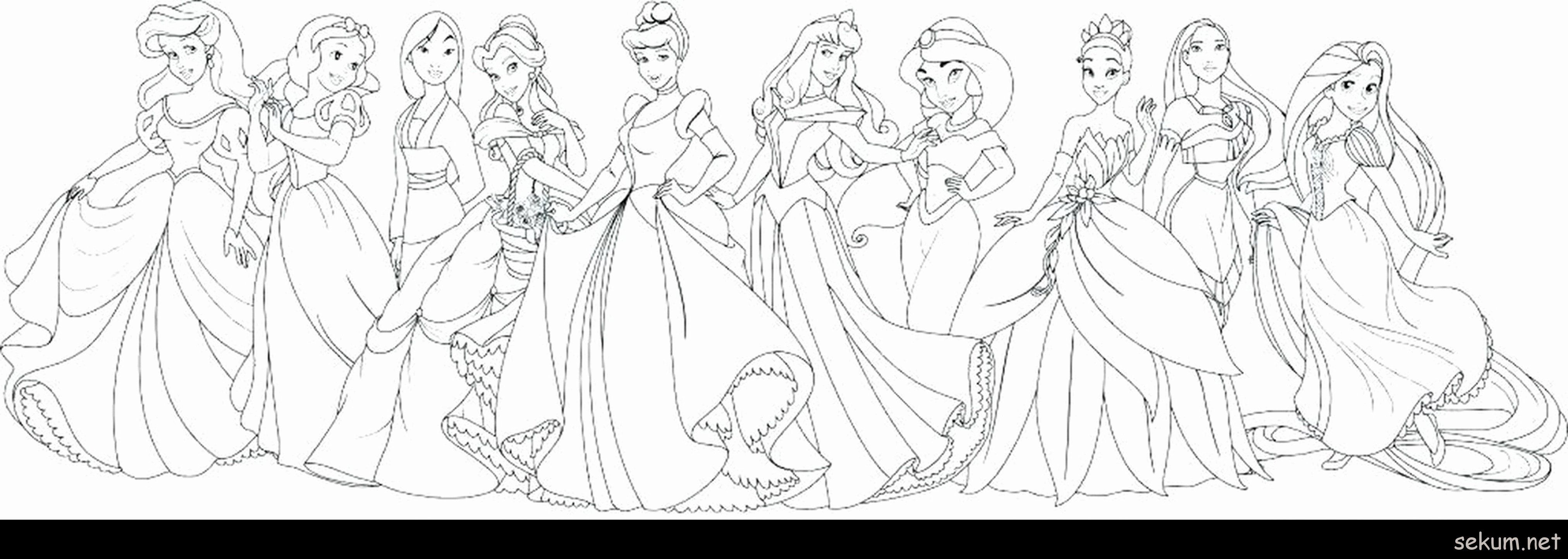 - All Disney Princesses Coloring Pages