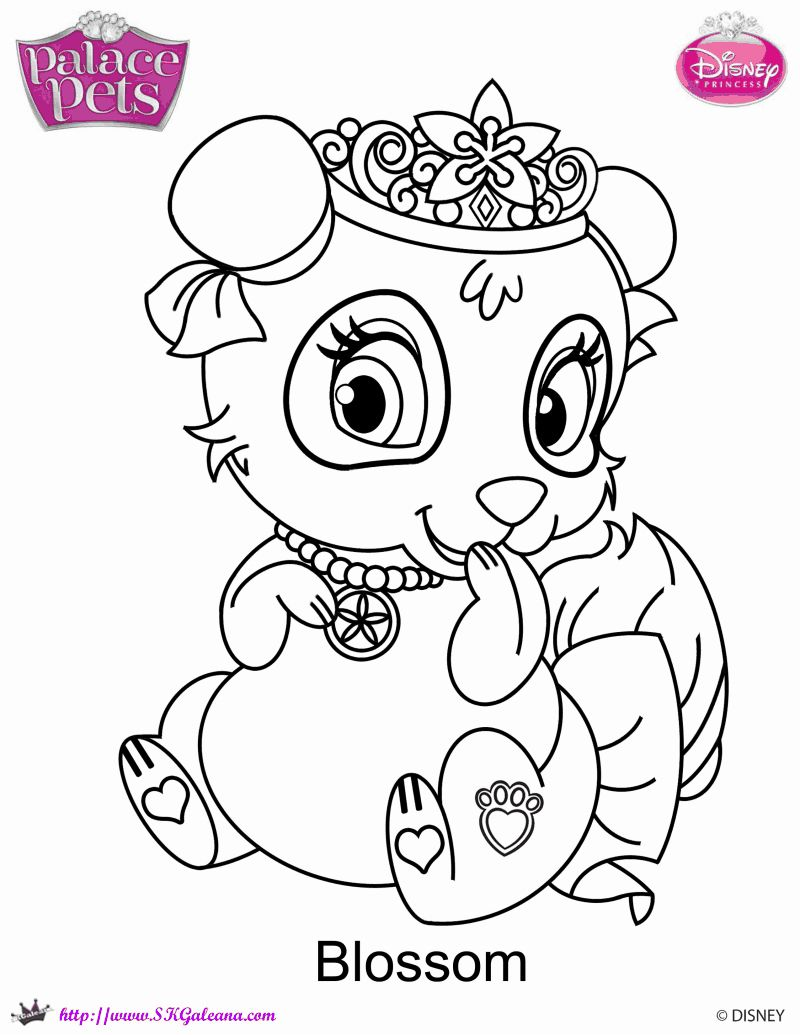 Blossom Palace Pet Disney Coloring Pages Free Coloring Pages