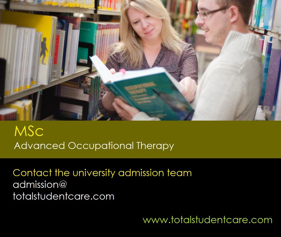 Msc advanced occupational therapy study in the uk