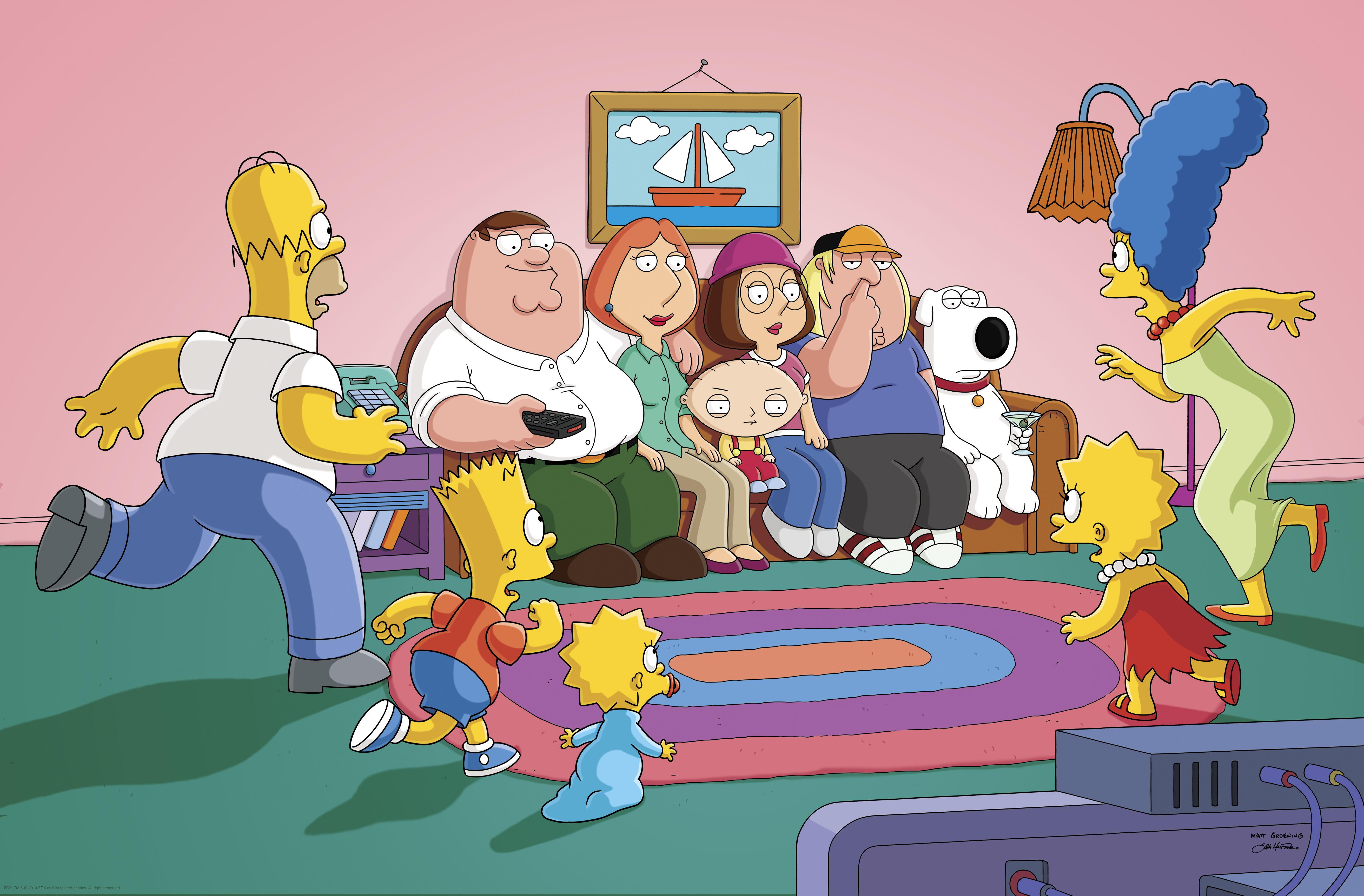 On The Simpsons Couch