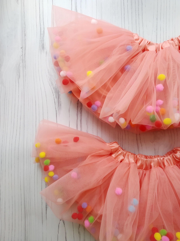 9cebc3f70a Peach Pom Pom Skirt, Tutu Skirt With Pom Pom, Birthday Party Pom Pom Tutu,  Blush Tulle Skirt | Skirt tutu with pompoms | Blush tulle skirt, Skirts и Pom  pom ...