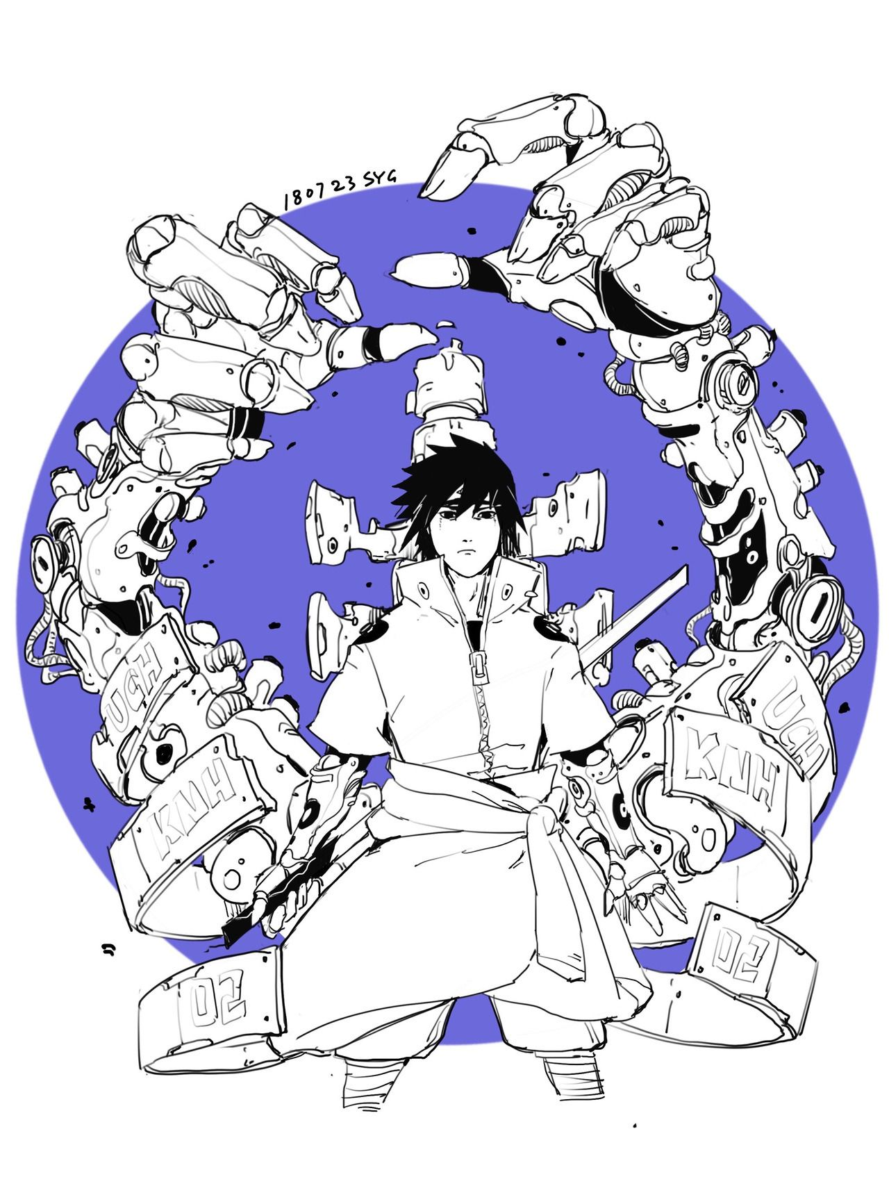 Fine I Ll Sign Up Cyberpunk Team 7 And Hokage Itachi By Syg Alita Battle Angel Manga Anime Superhero Itachi