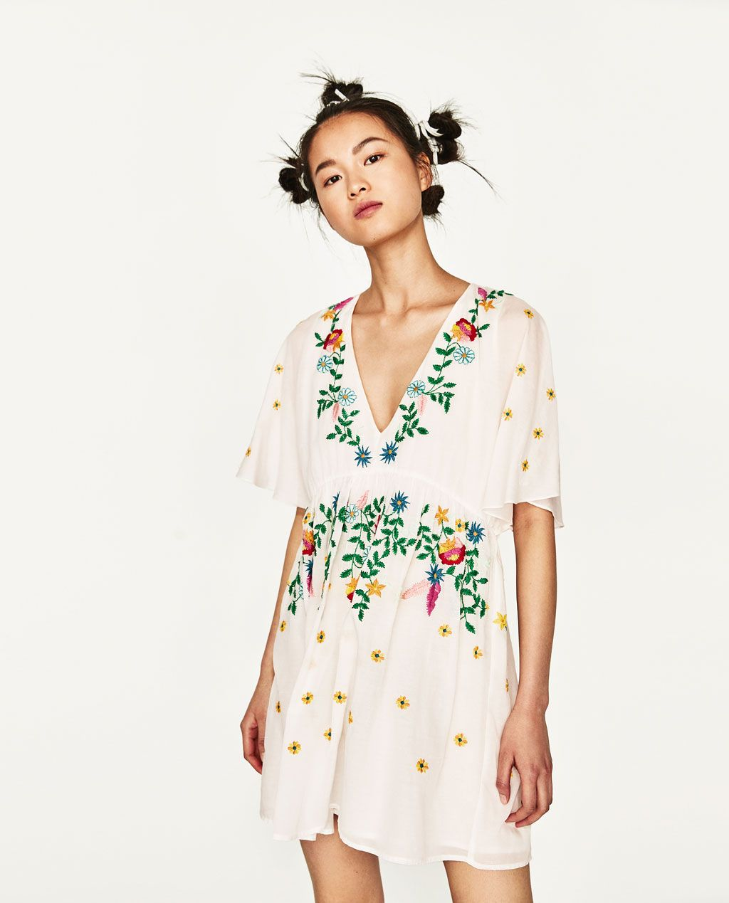 Image 3 of EMBROIDERED DRESS from Zara | Bestickte kleider ...