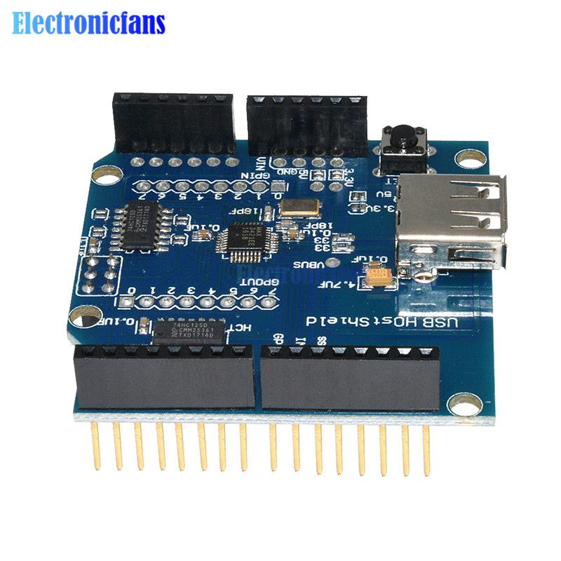 Usb Host Shield Support Google For Arduino For Android Adk Uno 328 Mega 2560 Duemilanove In Integrated Circuits From Electronic Comp Arduino Usb Arduino Usb