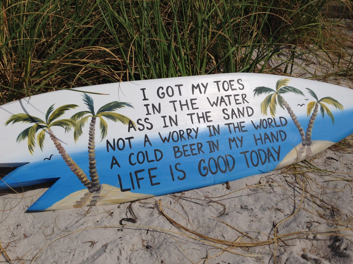 I got my toes in the water surfboard sign beach bar decor life i got my toes in the water surfboard sign beach bar decor life is amipublicfo Gallery