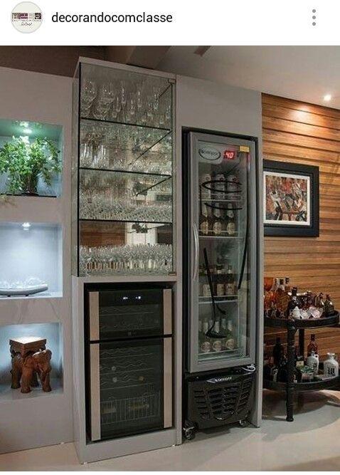 Geladeira Cozinhas Em 2019 193 Reas De Bar Cristaleira E
