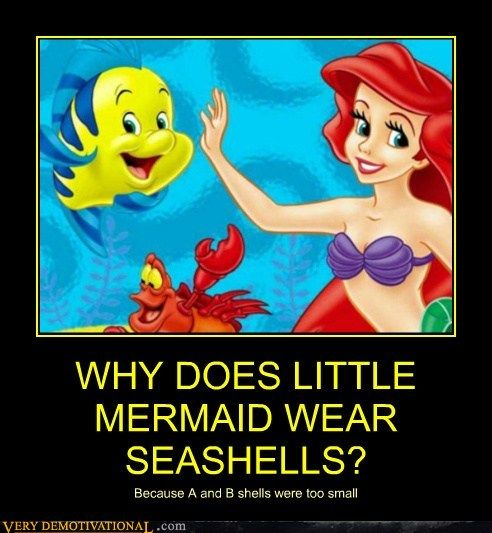 WHY DOES LITTLE MERMAID WEAR SEASHELLS