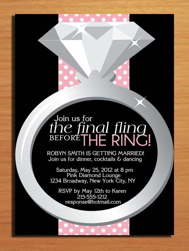 Fling Before the Ring Customized Printable Bachelorette Party ...