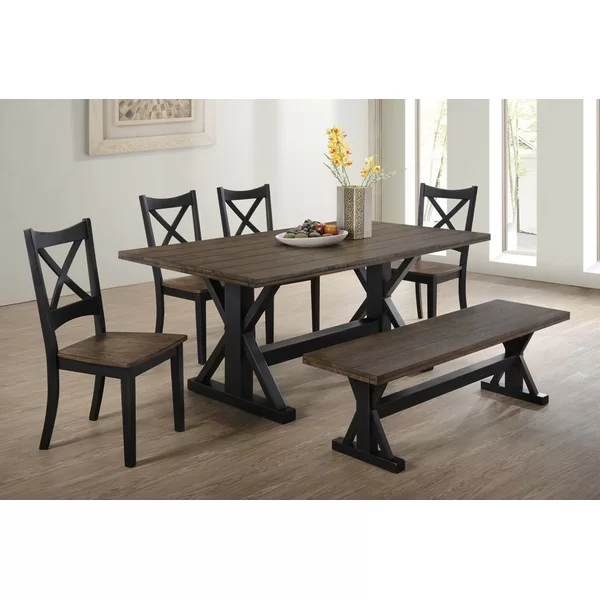 You Ll Love The Landrum 6 Piece Dining Set At Wayfair Great Deals On All Furniture Products Wit In 2020 Dining Set With Bench Modern Dining Room Set Farmhouse Dining