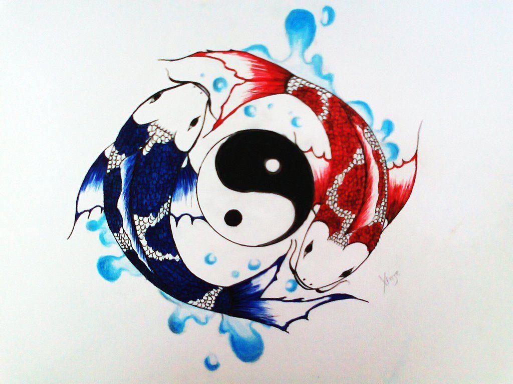 Yin And Yang Koi By Xinje On Deviantart Yin Yang Art Yin Yang Koi Yin Yang Tattoos