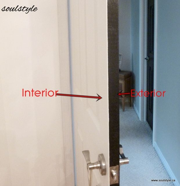 Consider Different Colors For Each Side Of Your Door To