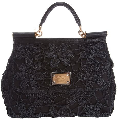5890568babe9 Dolce   Gabbana Miss Sicily Handbag in Black