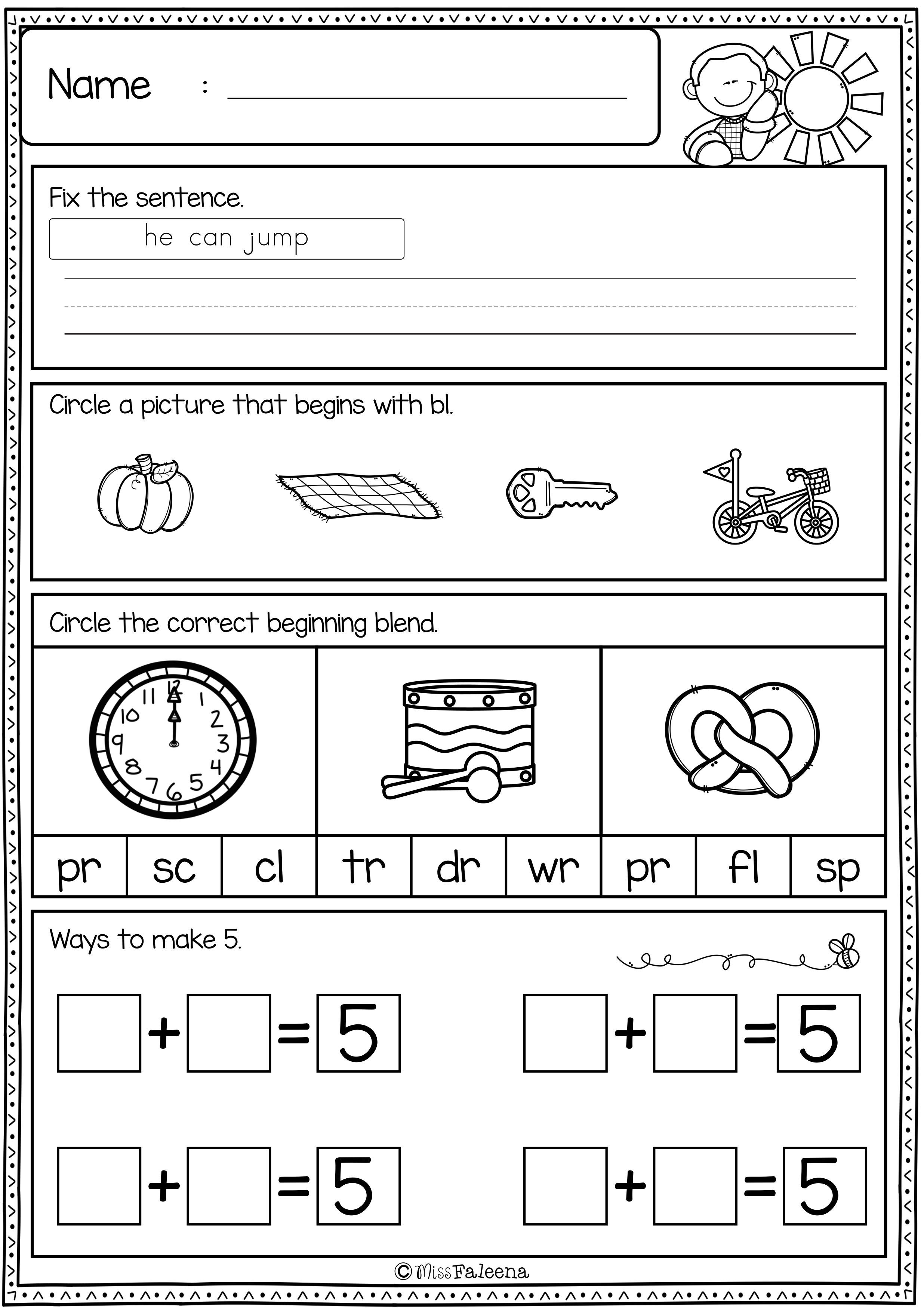 First Grade Morning Work Set 3 Includes 60 Pages Of Morning Work Activities For Literacy And Math Th Teacher Created Resources Elementary Learning First Grade