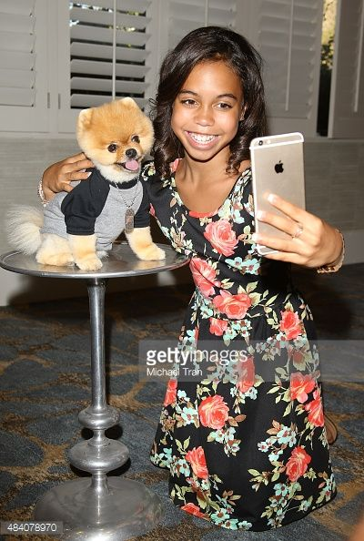 Asia Monet Ray and Jiff the dog arrive at the 1027 KIIS FM's Annual Teen Choice PreParty held at W Los Angeles Westwood on August 14 2015 in Los...