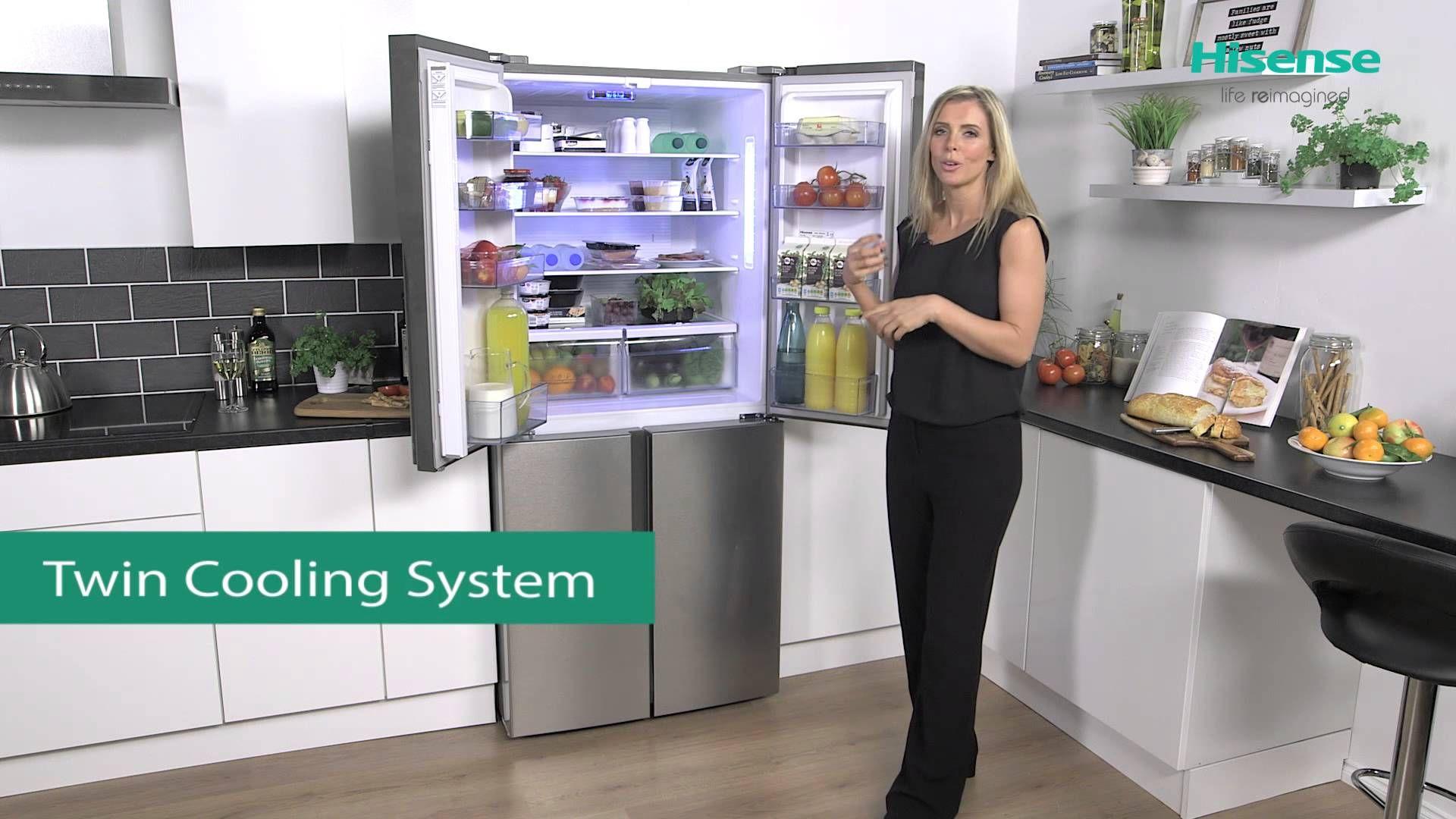 Rq562n4ac1 Hisense 4 Door Fridge Freezer Review 4 Door Fridge Kitchen Storage Fridge Freezers