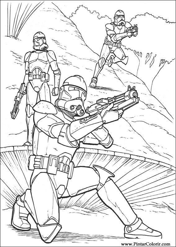 Pintar E Colorir Star Wars Desenho 142 ไทย