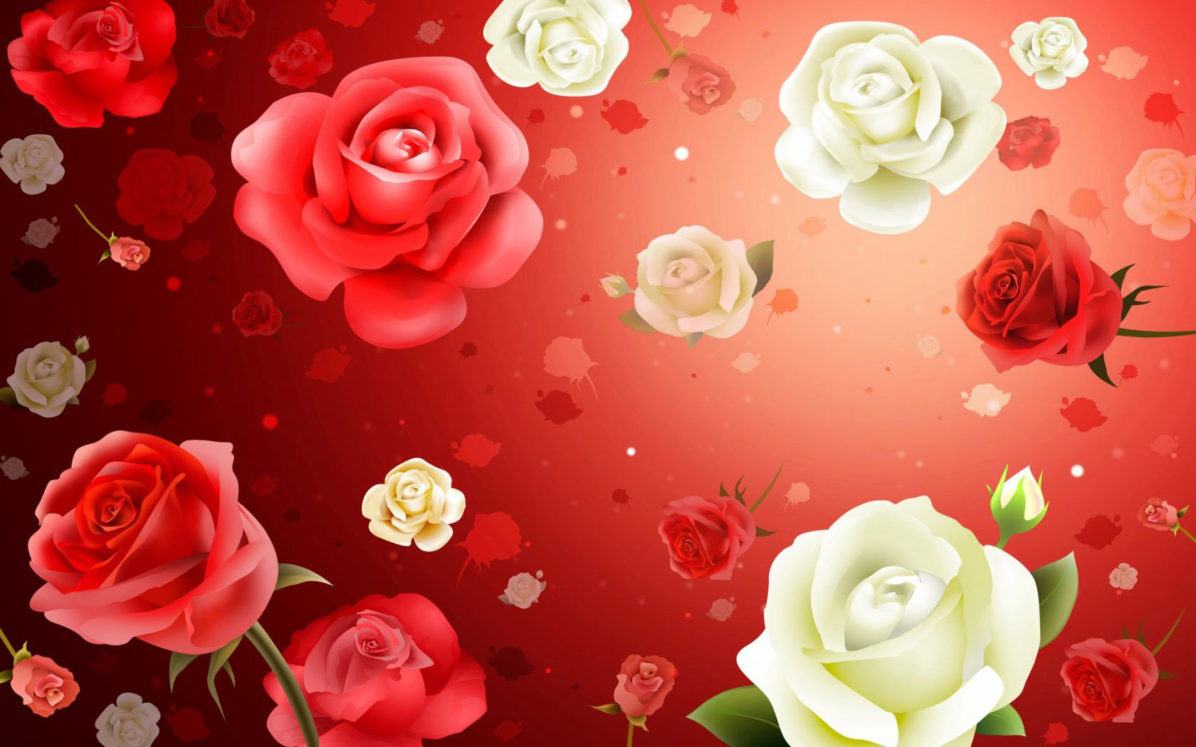 Wallpapers Collection «Pink Roses Wallpapers» Букет из