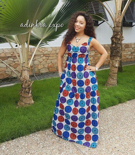 Yaya African Print Maxi Dress/ Ankara Dress / Ankara Gown ...