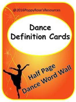Dance terminology az
