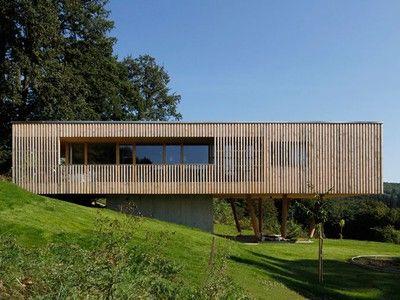 A passive house is built on stilts passive house house for Modern house on stilts