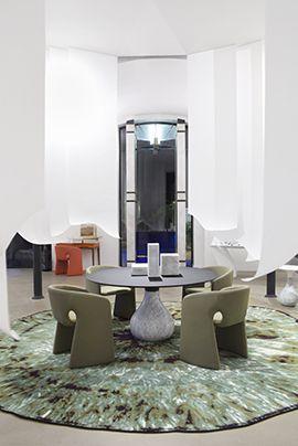 Roche Bobois Spring Summer Press Presentation In Paris France 2016 Dining Table