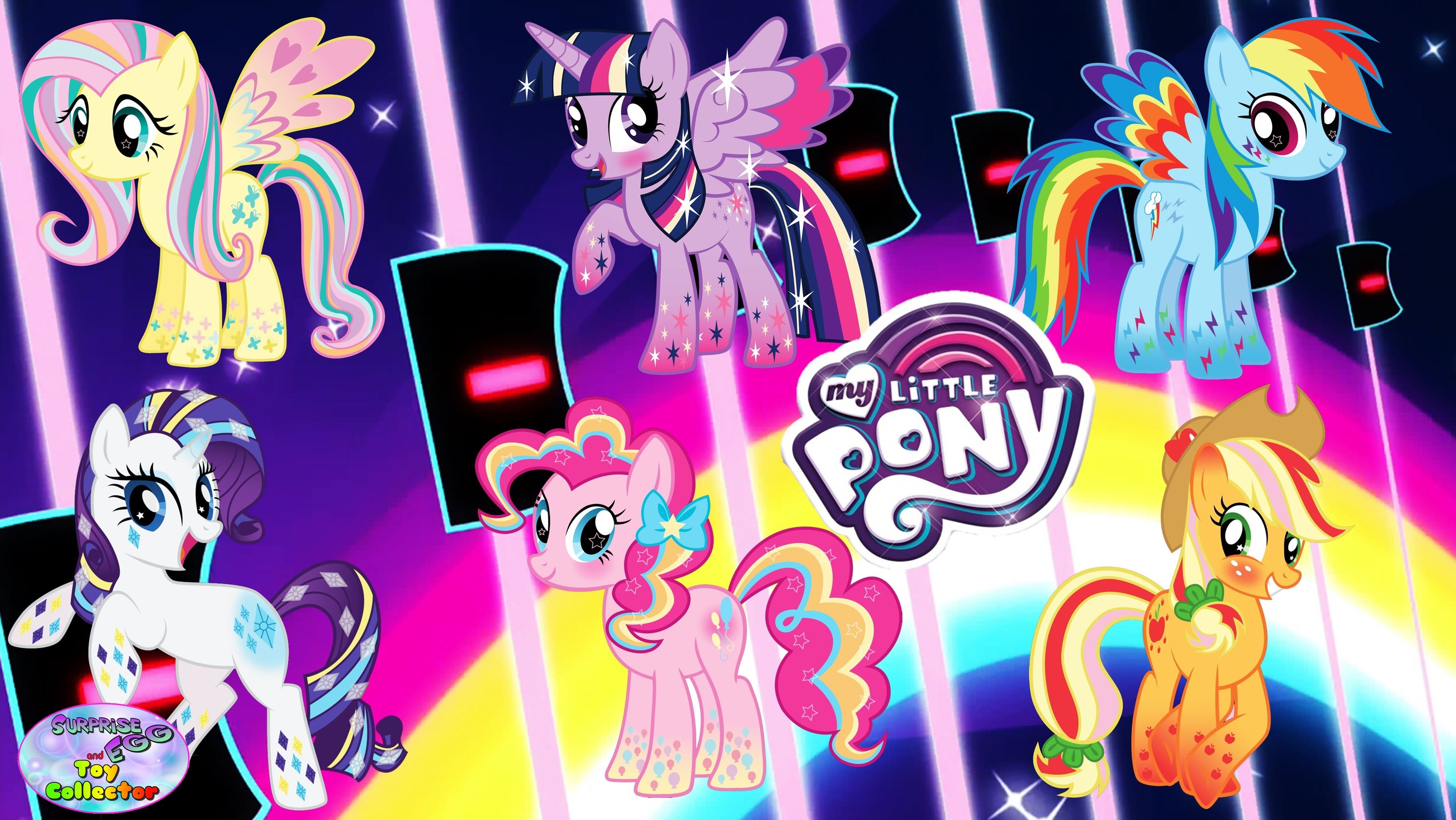 My Little Pony Mane 6 Transforms Rainbow Power Rainbowfied Color Surpris My Little Pony Pony Favorite Character