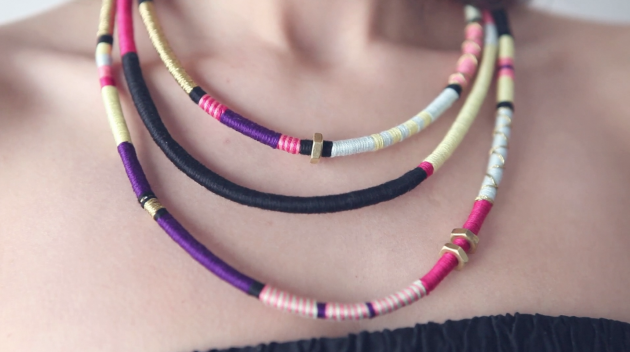 how to make tribal necklace and bracelet video tutorial
