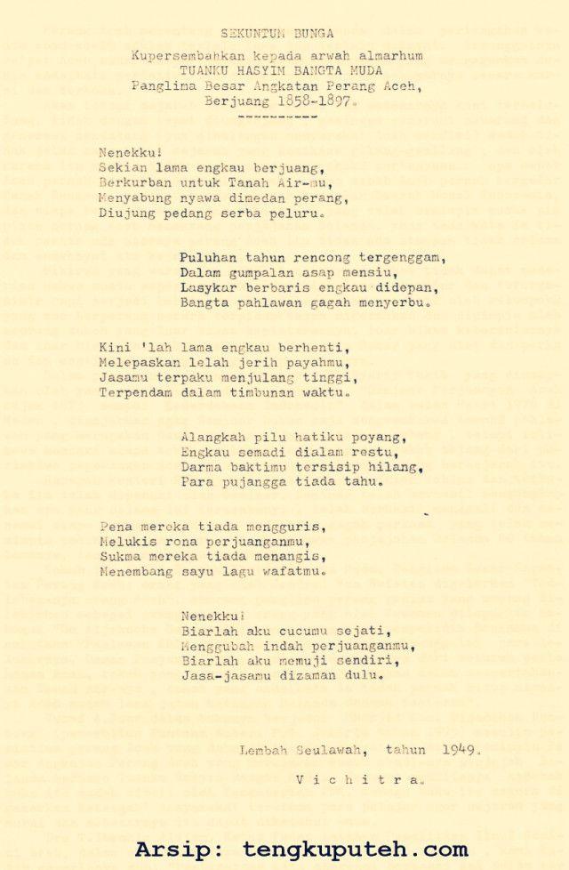 Tuanku Hasyim Wali Nanggroe Yang Dilupakan Sejarah Dengan Gambar