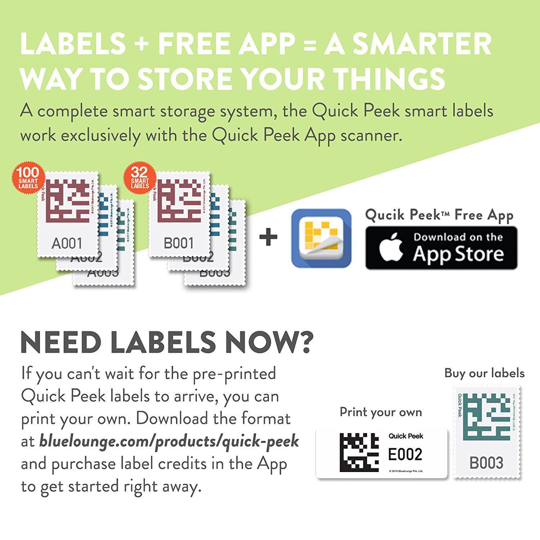 [Quick Peek] Storage Containers Smart Label