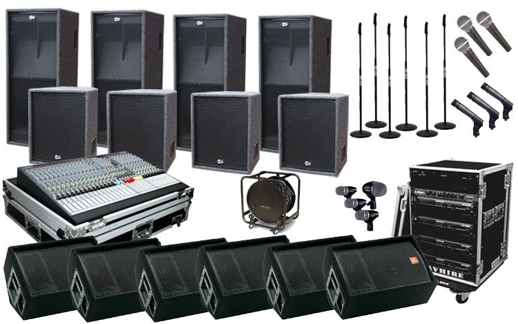 PA sound system installation repair technician home office